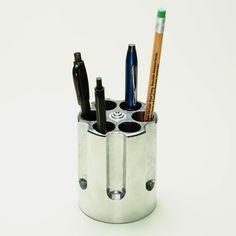 Gun Cylinder Pen Holder - Cool Material