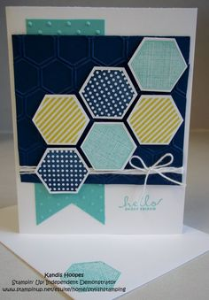 Stampin' Up Handmade Greeting Card Six Sided by StylishStamping, $3.50