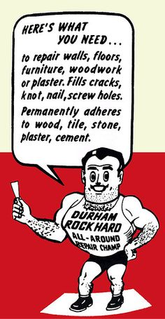 Durham Rock Hard Water Putty.