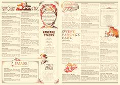 Diseño de menús graphic design, restaur menu, design inspir, pancak parlour, parlour restaur