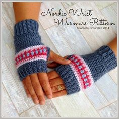 Nordic Wrist Warmers Pattern ~ My Rose Valley