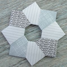 #papercraft #envelopes This is very interesting with the different designs. Paper Wreath from recycled envelopes