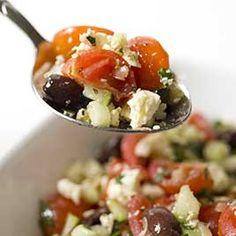 Greek Cherry Tomato Salad :: America's Test Kitchen :: Recipes