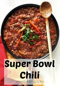 Super Bowl Chili beef recipes, super bowl, food recip, bird johnson, fat flush, chilis, lettuc wrap, chili recip, border lettuc
