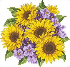 free sunflower counted cross stitch patterns | Leave a Reply Cancel reply