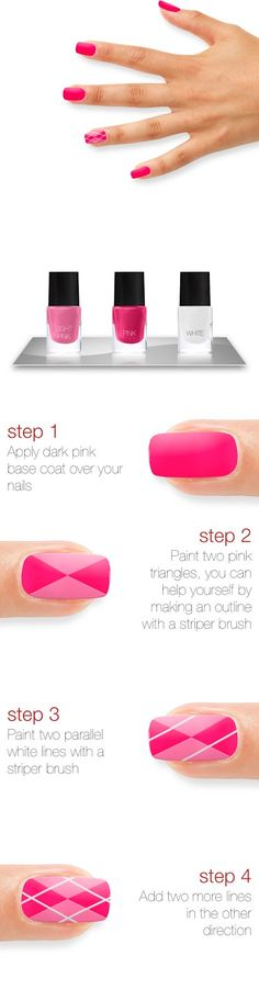 Cross-Pattern Nails (Simple Criss Cross) Tutorial - XoxoEmmy | Beauty Blog, Makeup Reviews & Fashion How to's