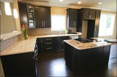 espresso cabinets kitchen design