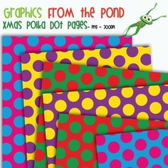 FREE Christmas Polka Dot Pages -Graphics From the Pond