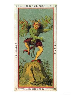 Buy The Devil  Tarot Card from the Grand Etteilla Giclee Print