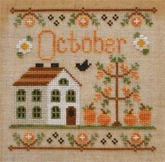 Cottage Of The Month- October XS Pattern