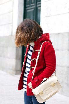 Red   Duffle Coat &