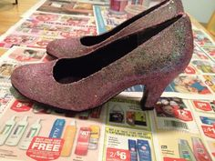 When Good DIY Goes Bad - Glitter Shoes - featured for April Fails