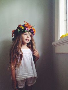 little girls, flower crowns, festival style, flower children, inner child, flower girls, floral crowns, little flowers, kid
