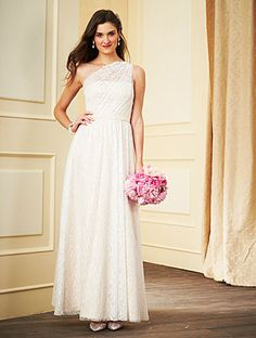 Alfred Angelo Bridesmaid Style 7281L in Ivory/Linen