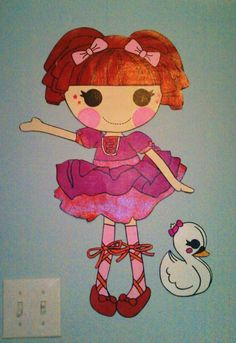 Lalaloopsy Tippy Tumblelina Handpainted Wallpaper by speakeasy413, $33.99