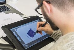 Student at work: digital painting course