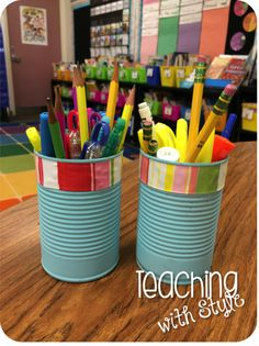 pencil caddies for the classroom
