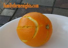 Here is a healthy afternoon snack in honor of March Madness--an orange made to look like a basketball!  Idea from http://familythemenights.com