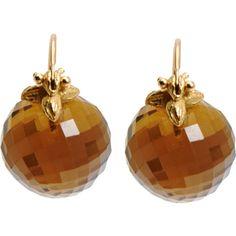 Gabrielle Sanchez Cognac Quartz Flyer Earrings