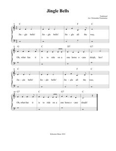 Free Printable Jingle Bells Sheet Music and Song for Kids!