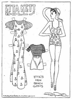 Etta Kett | ETTA KETT Newspaper Paper Dolls 6-4-33