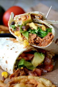 BBQ Ranch Chicken Wrap