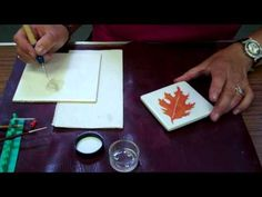 In this video lesson Jackie Halhead, UK demonstrates how to trail I-relief to create a raised, textured outline. porcelain paint, china paint, pintura porcelana, paint tutori