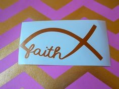 Hey, I found this really awesome Etsy listing at https://www.etsy.com/listing/176337463/faith-decal-christian-decal-car-decal monogram decal for car, monogram gifts, decal monogram, car decals, vinyl lettering, tattoo, vinyl decals