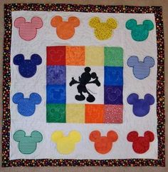Mickey Mouse Applique Quilt -