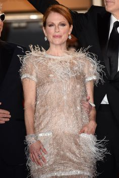 Julianne Moore - named Best Actress for her role in Maps to the Stars - dazzling with Chopard Diamonds on the Cannes Red Carpet.
