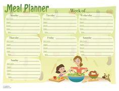 Weekly Meal Planner!!