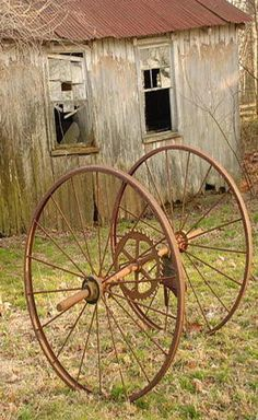 Two Wagon Wheels