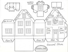 Glitter Houses Plans and Patterns - Putz Houses on ...