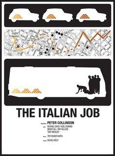 The Italian Job minimalist movie poster