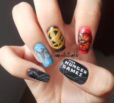 game nail, the hunger, mockingjay, hunger games series, book, nail arts, beauti, awesom, nails