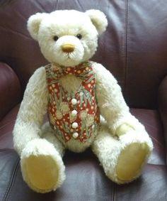 Rupert 19 inch 48 cm Traditional Mohair Teddy Bear by BearlySane, $15.00