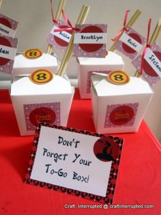 this is the best ninja party I have found so far.  Inexpensive, cute and fun ideas!  Love the headbands!