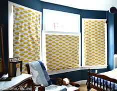 How to re-cover fabric shades in 3 easy steps. No sew.
