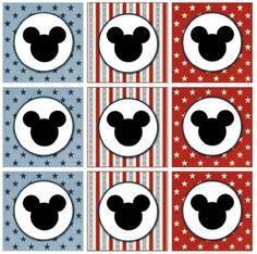Kit Festa do Mickey confeccionado com técnica de scrapbooking. Lindo!
