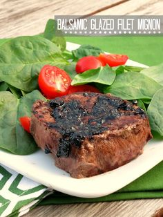 Balsamic Glazed Filet Mignon | alidaskitchen.com  #recipes #WeekdaySupper