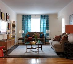 decor, curtains, living rooms, rug, color