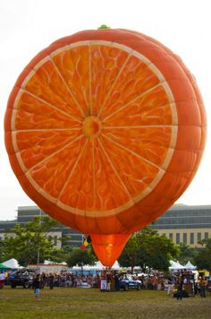 Orange hot air balloons