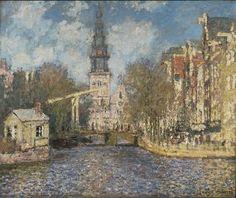 The Zuiderkerk in Amsterdam - Claude Monet