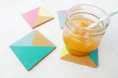 DIY Geometric Coasters by allieprincipe, via Flickr