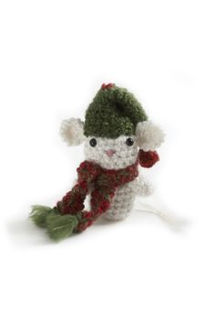 Amigurumi Christmas Mouse Ornament and other free Crochet Christmas Ornament Patterns at mooglyblog.com!