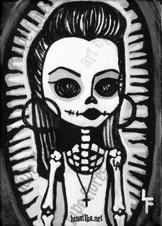 HomeGirl 5x7 Day of the dead art print. $6.99, via Etsy.