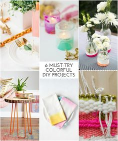6 Must-Try Colorful DIYS