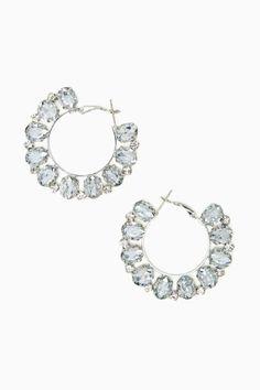 Crystal Flame Hoop Earrings
