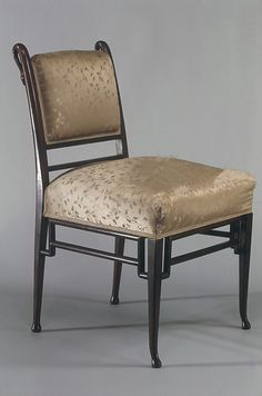 Chair, attributed to Herter Brothers, ca. 1880, New York City, the Met Collection