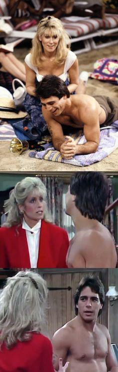 Judith Light as 'Angela Bower' & Tony Danza as 'Tony Micelli' in Who's the Boss? (1984-92, ABC)